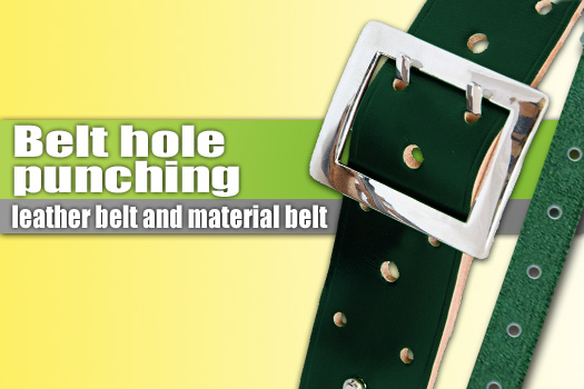 Belt hole punching