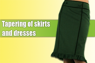 Skirts tapering
