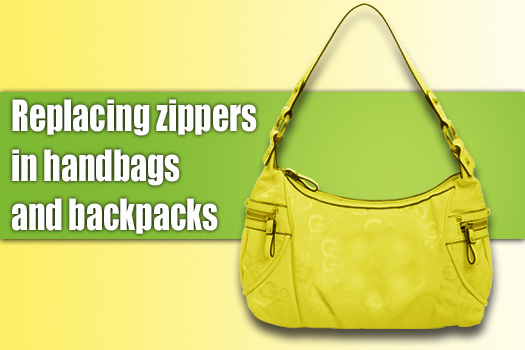 Replacing Zipper in a handbag